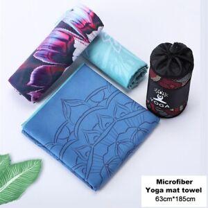 UK Non Slip Yoga Towel Yoga Mat Cover Hot Bikram Sport Travel Exercise