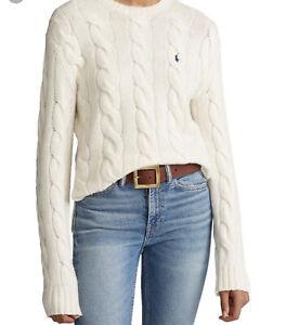 Ralph Lauren Oversize Cable Knit Jumper Size L New