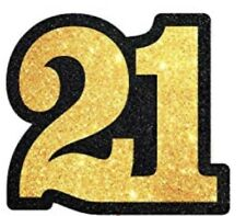 21 Years Old Black Gold Cake Toppers Happy 21st Birthday Cupcake Topper 15PCS