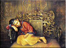"""Oil Painting The small emperor of China Forbidden City on Canvas 24""""×36"""" #2167"""