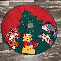 "Disney Winnie the Pooh Christmas Tree Skirt 43"" Walt Disney Characters Vintage"