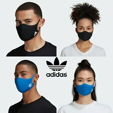 Adidas Face Mask Cover Protection 100% Authentic 3pc Set Unisex Adults & Kids