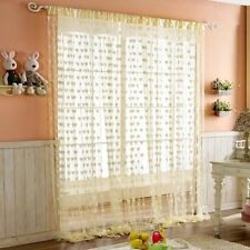 1x2M Herz Muster Vorhänge mit Quaste romatisch Gardine für Tür Zimmer Fenster