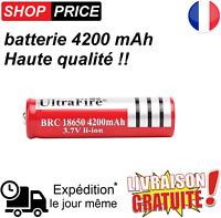 Batterie pile accu lithium rechargeable 18650 4200 mAh 3.7V Li-ion ultrafire