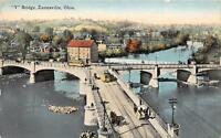 CPA ETATS UNIS D´AMERIQUE USA OHIO Y BRIDGE ZANESVILLE OHIO