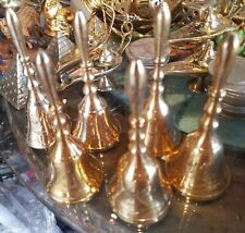 "Solid Brass Hand Bell 4"" Made in India Buy 2 Get 3rd Item Free"