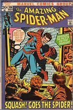 "THE AMAZING SPIDER-MAN # 106-1972-STAN LEE-JOHN ROMITA-""SQUASH GOES THE SPIDER!"""