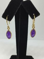 Silver Plated Natural Amethyst Fine Earrings
