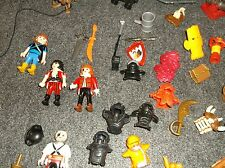 40 piece Playmobil lot Mini figures Weapons Cannon hats caps knight pirate etc