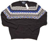 Polo by Ralph Lauren Mens $265 Cashmere Rabbit Hair Cotton Crewneck Sweater XL