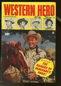 WESTERN HERO #110 FINE 6.0 TOM MIX / MONTE HALE / TEX RITTER 1952 FAWCETT
