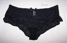 Lovable Intimates Ladies Livi Design Black Lace Trim Shortie Brief Size 14 New