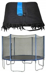 Upper Bounce Trampoline Net Replacement Safety Enclosure, Fits for 15 ft Round 8