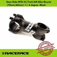 Race Face Ride XC Stem (60mm/70mm) +/- 6 degree MTB XC/Trail/AM Bike Stem Black