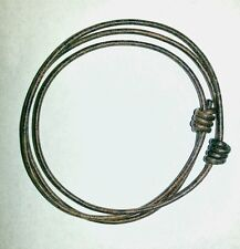 "Bracelet Distressed Brown Leather Handmade Unisex 2mm Adjustable 5.5"" to 10"""