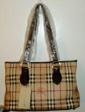 NWT Vtg BURBERRY HAYMARKET Nova Check Regent Tote Leather bag, handbag, purse