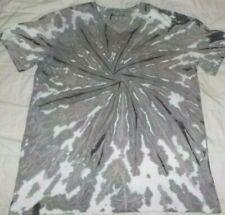 """Mens cotton Tie dye T-shirt """"Grey Wash spiral"""" size Medium, new"""