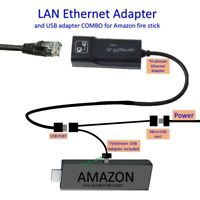 LAN Ethernet Adapter for AMAZON FIRE TV or STICK GEN 2 3 or 4 STOP THE BUFFERING