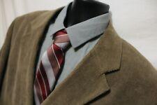 Jacques Bellini Mens 48L Brown Corduroy 3 Btn 2 piece Suit 44x32 Pleated Cotton