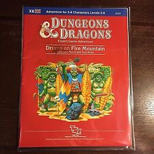 Dungeons & Dragons DRUMS ON FIRE MOUNTAIN Game Adventure Module X8 TSR 9127 book