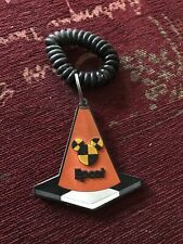 Walt Disney World Epcot Test Track Vintage Keychain Key Ring 1996 Traffic Cone