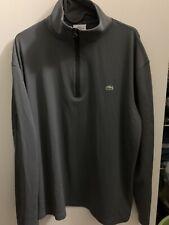 Lacoste Sport Gray 1/4 Zip Performance Shirts Size 6/Xl