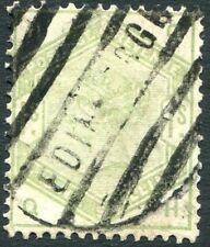 1883-4 1/- Green Edinburgh cancel Sg 196  AVERAGE USED  V83906