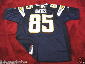 #85 ANTONIO GATES CHARGERS NAVY BLUE NFL SEWN STITCHED JERSEY - CHOOSE SIZE