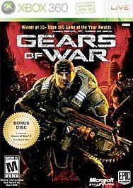 Gears of War -- Two-Disc Edition (Microsoft Xbox 360, 2008) w/ Manual Platinum
