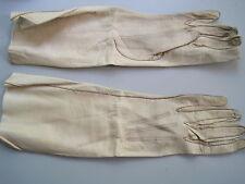 Gloves evening wedding size 5 3/4 calf leather cream  3