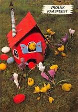 Vrolijk Paasfeest, Toy House Little Chickens Eggs Flowers Happy Easter