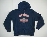 NEW ENGLAND PATRIOTS Football Team NFL SUPER BOWL HOODIE Gym Sweatshirt Sz Large