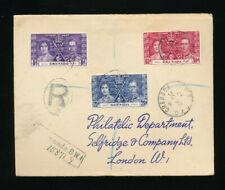 Karibik, Reco-Brief 1937 aus Grenada nach London   (T3)