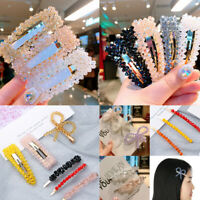 Accessories Korean Metal Hairgrip Hair Clips Rhinestone  Women Pearl Hairpins