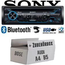 Sony Autoradio für Audi A4 B5 Bose Bluetooth CD MP3 USB Einbauset PKW KFZ 4x50W