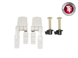 Jabsco Toilet Seat Hinge Set for Compact Wood Seat / Lid Assembly (29098-1000)