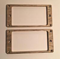 Korina Flat Humbucker Pickup Ring Set Replace PRS Recessed Height holes