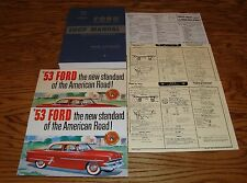 1953 Ford Car Shop Service Manual Owners Manual Sales Brochure 14 Piece Lot 53