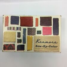 Vintage Sears Kenmore Sew By Color Sewing Machine Attachments In Box 1960