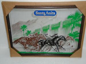 Santa Anita The Great Race Place Horse Racing Man Cave Bar Mirror