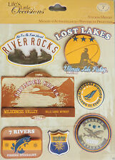 K&Company 7pc 3-D Lake & Water Activities Stickers Outdoor Sport Fishing Sailing