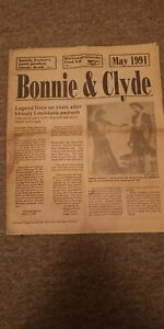 Bonnie and Clyde Newspaper Times  May 24 1991