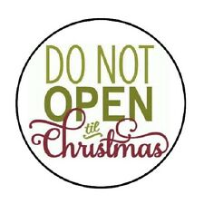 """48 Do Not Open Til Christmas !!!  ENVELOPE SEALS LABELS STICKERS 1.2"""" ROUND"""