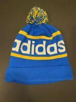 NEW Adidas Originals Mercer Ballie Pom Beanie Winter Hat BLUE/YELLOW Q45349