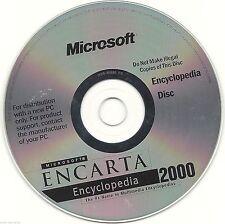 Microsoft Encarta Encyclopedia 2000 (Media Only) for Windows