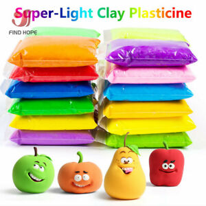 12/24/36 Colors Super Light Clay Educational Special DIY Plasticine Air for kids