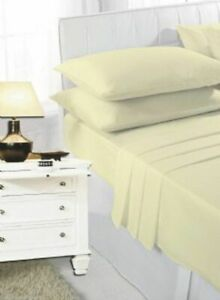 New Fitted Sheet 100% Polycotton Extra Deep 40cm Percale Fitted Sheet