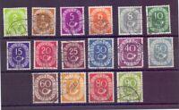 Bund 1951 - Posthorn - MiNr. 123/138 rund gestempelt - Michel 50,00 € (553)