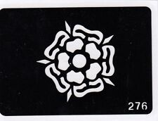 GT276 Body Art Temporary Glitter Tattoo Stencil Tudor Rose
