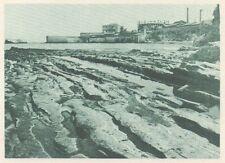 G0552 Asia - Bancs de silex sur la plage de Beyrouth - Stampa - 1926 Old print